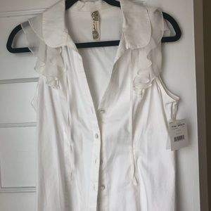 Free People Ivory Tank Top Blouse